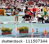 BARCELONA, SPAIN - JULY 15: Gilbert Kiplangat Kirui silver medalist of 3000 Metres Steeplechase on IAAF World Junior Athletics Championships on July 15, 2012 in Barcelona, Spain - stock photo