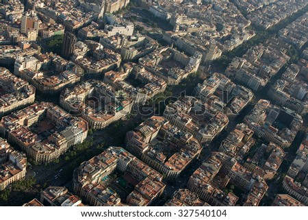 BARCELONA, SPAIN - JULY 10: Up to a million people converge on Barcelona to join a rally demanding independence for Catalonia, on July 10, 2010, in Barcelona, Spain. - stock photo
