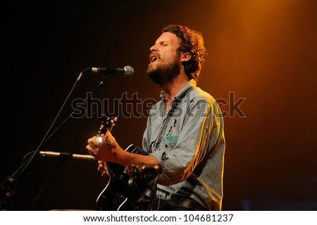BARCELONA, SPAIN - JUNE 2: Father John Misty band performs at San Miguel Primavera Sound Festival on June 2, 2012 in Barcelona, Spain.