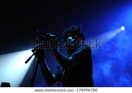 BARCELONA, SPAIN - JUNE 2, 2012: Neon Indian band performs at San Miguel Primavera Sound Festiva. The Rolling Stone magazine called them one of the hottest new bands.