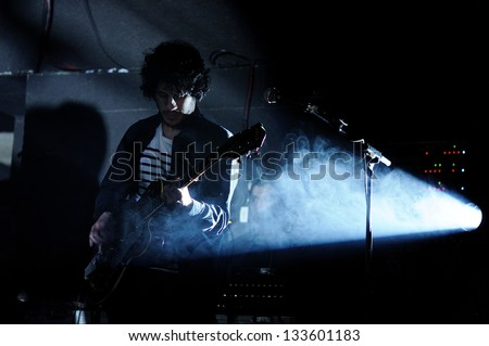 BARCELONA, SPAIN - MAR 16: Bremen band performs at Salamandra on March 16, 2013 in Barcelona, Spain at Let's Festival 2013.