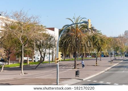 BARCELONA, SPAIN - MAR 15, 2014: Port Vell, the harbor in Barcelona,  built as part of an urban renewal program prior to the 1992 Barcelona Olympics.