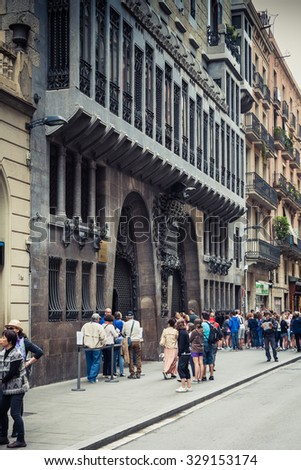 BARCELONA, SPAIN - MAY, 2015: Palau Guell in Barcelona Spain