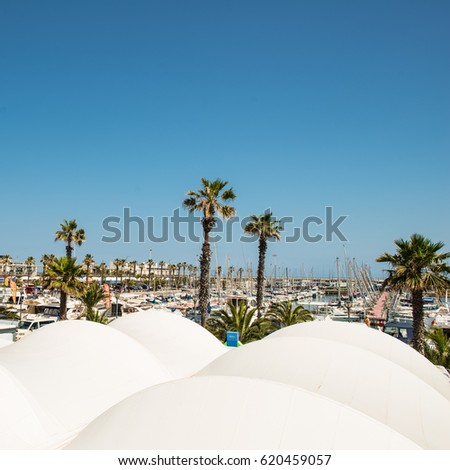 BARCELONA, SPAIN - 25 MAY 2013: Port Vell in daylight