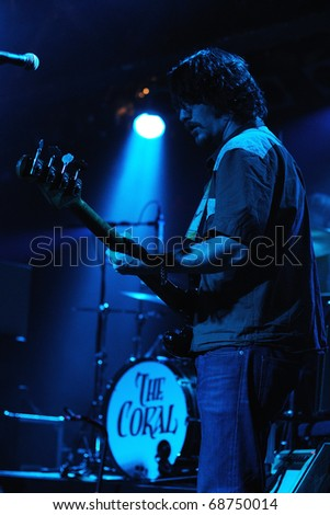 BARCELONA, SPAIN - NOV 11: The Coral performs at Discotheque Razzmatazz on November 11, 2010 in Barcelona, Spain.