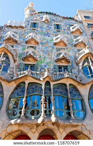 Barcelona Spain November 11 Casa Batllo Stock Photo 118707619