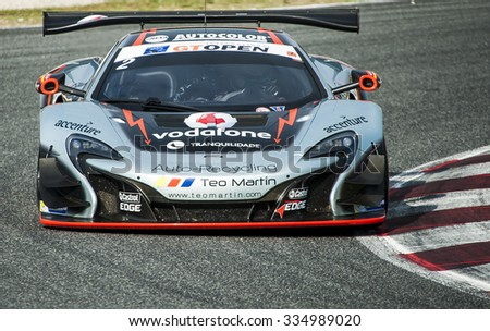 BARCELONA, SPAIN - NOVEMBER 1, 2015: TEO MARTIN MOTORSPORTS at International GT Open that celebrates at Circuit de Barcelona Catalunya in Barcelona, Spain.