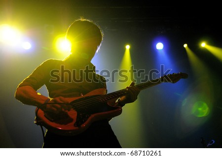 BARCELONA, SPAIN - SEPT 17: Polock performs at Discotheque Razzmatazz on September 17, 2010 in Barcelona, Spain. - stock photo