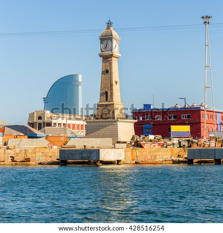 Barceloneta's Clock Tower in Barcelona