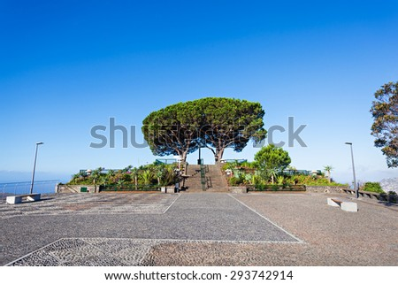 Barcelos viewpoint in Funchal, Madeira island, Portugal - stock photo