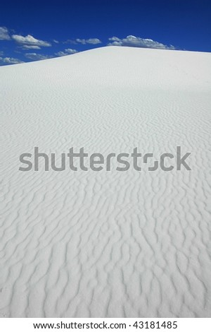 Barchan Dune at White Sand National Monument - stock photo