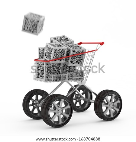 barcode concept - stock photo
