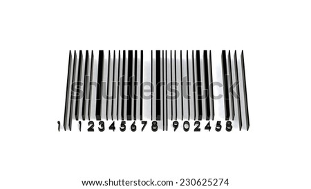 barcode 3d illustration