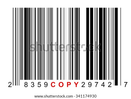 Barcode for identifying all kinds of copied goods
