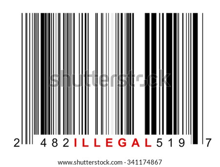 Barcode for identifying all kinds of illegal goods