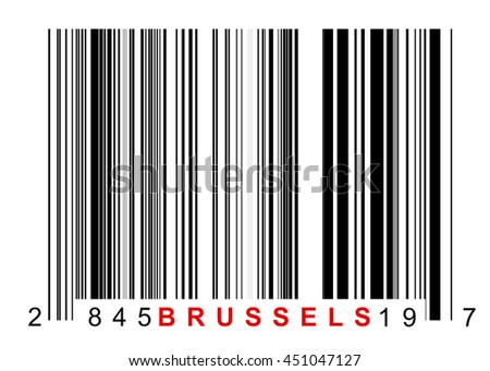 Barcode for identifying all things of Brussels