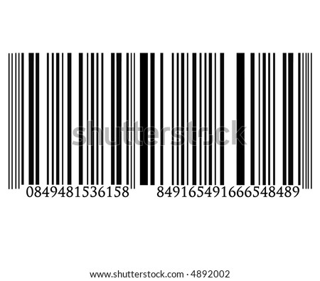 Barcode on solid white background