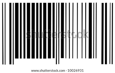 barcode scan code on white background - stock photo