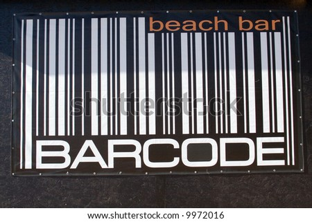 Barcode sign
