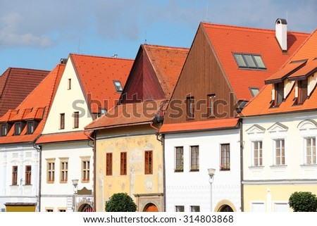 Bardejov in Slovakia. Old town is a UNESCO World Heritage Site.