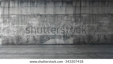 bare concrete wall / 3D Render Image