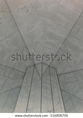 Bare concrete wall with mirror texture - stock photo