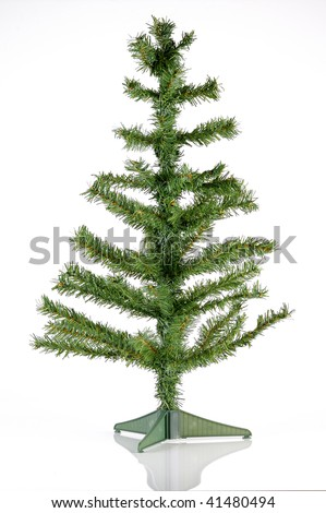 bare plastic christmas tree ready to decorate - Plastic Christmas Tree