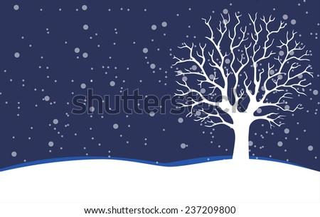Bare tree. Winter - stock photo