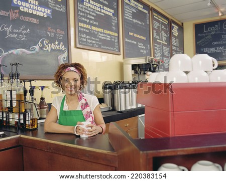 Barista smiling for the camera
