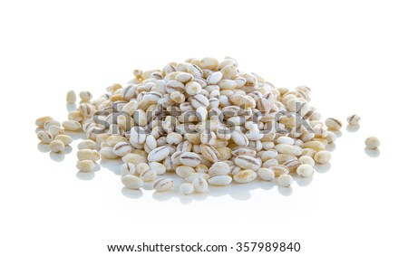 Barley Grains Isolated on White Background - stock photo