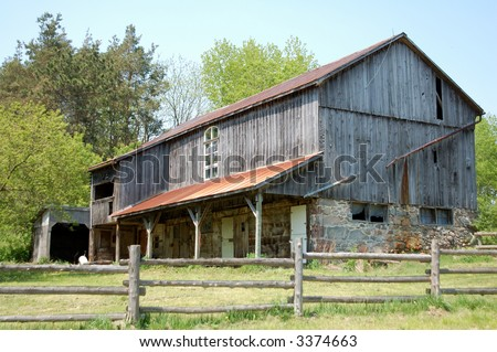 barn and fence