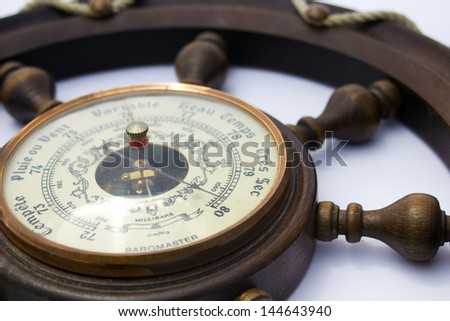 Barometer Close Up Very Dry (in French) - stock photo