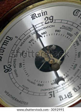 Barometer - Here Comes the Rain - stock photo