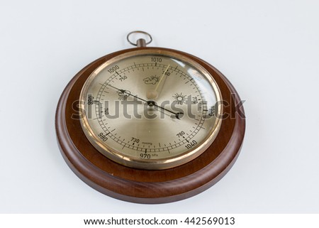 Barometer on table