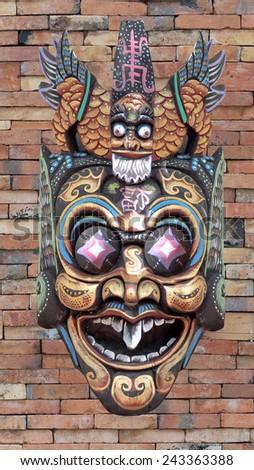 Baron Indonesian style mask chuck . - stock photo