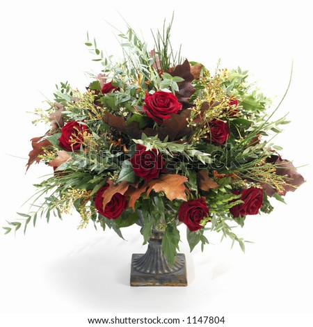 Fall Flower Arrangement Isolated Stock Photos Images