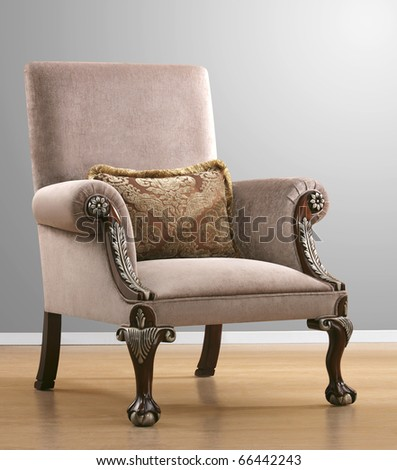 baroque isolated armchair - stock photo