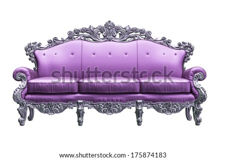 Baroque sofa  with pink worker strikes