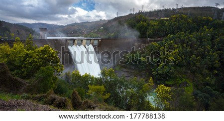 Barragem da Canicada, Geres, Portugal - stock photo