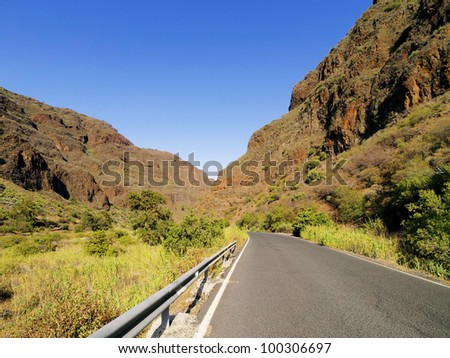 Barranco de Guayadeque, Gully on Gran Canaria, Canary Islands, Spain