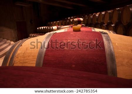barrel carmenere - stock photo