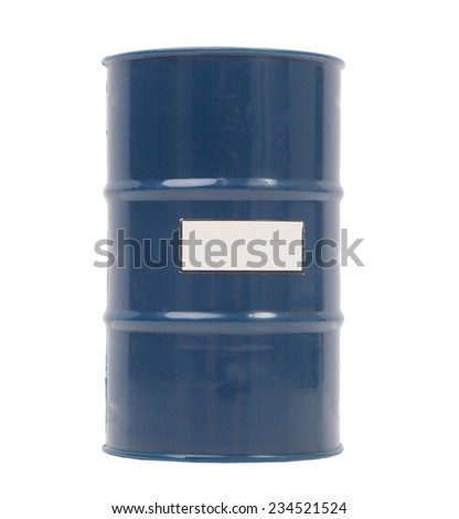 Barrel for toxins isolated on white - stock photo