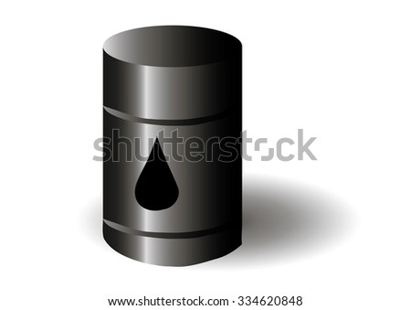 Barrel of oil on white background.