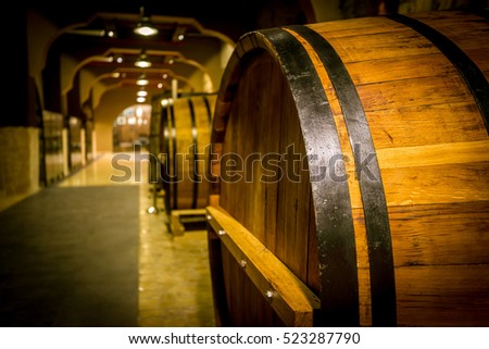 Barrels of Ararat cognac factory, Armenia