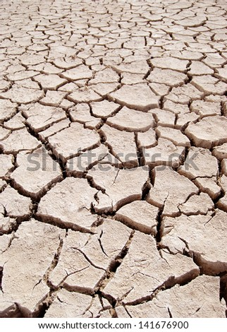 Barren ground - stock photo