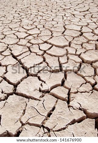 Barren ground - stock photo