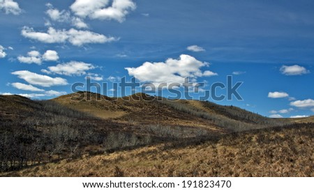 Barren Lands in a Ranch - stock photo