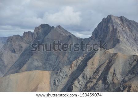 Barren Mountain Peaks - stock photo