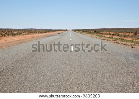 barrier highway through the outback and desert