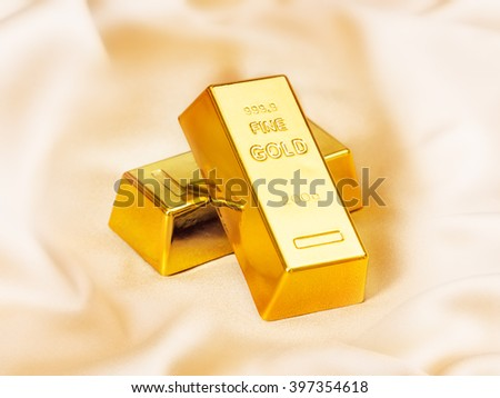 Bars of gold - stock photo